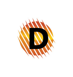 Technology letter d vector