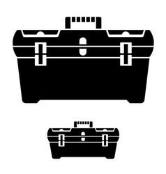 Tool box black symbol vector