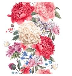 Vintage floral seamless border vector
