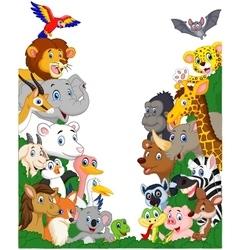 Wild animal cartoon vector