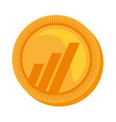 Worldcoin money golden icon vector