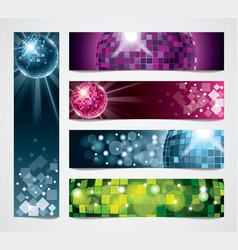 banners disco vector image