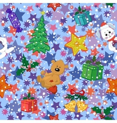 Christmas holiday seamless pattern vector image vector image
