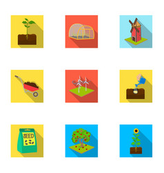 farm garden and other web icon in flat style vector image