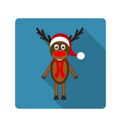 Icon reindeer for flat design vector image
