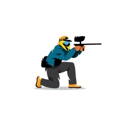 Paintball player vector image