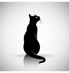 stylized silhouette of a cat vector image