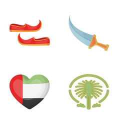 eastern shoes dagger the heart of the emirates vector image vector image
