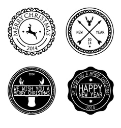 merry xmas badges vector image vector image