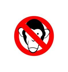 Stop monkey Forbidden Macaque Frozen head primacy vector image