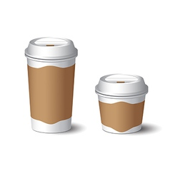 White paper cup 3 vector
