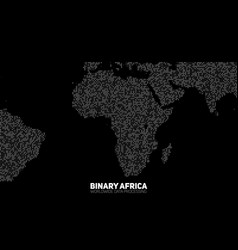 abstract binary africa map vector image