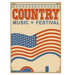Country music background with text old poster with vector