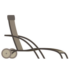 flat chair recliner lounge realistic office metal vector image vector image