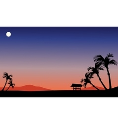 Scenery fields at the night vector image