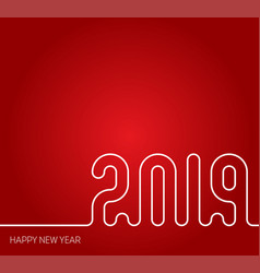 2019 happy new year the cover of calendar or vector image