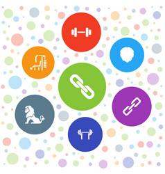 7 strength icons vector
