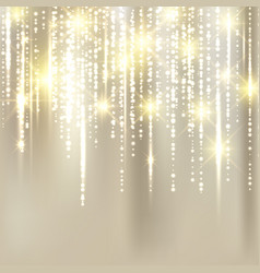abstract elegant christmas golden fabric vector image