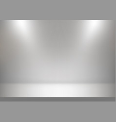 Abstract studio backdrop white and gray vector