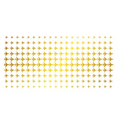 Air plane gold halftone pattern vector