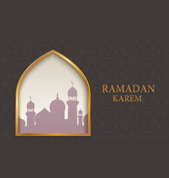 arab mosque on dark background vector image