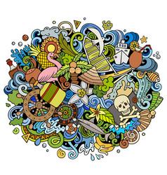 bahamas summer hand drawn cartoon doodles vector image