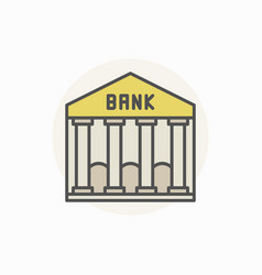 bank colorful icon vector image
