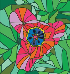 Beautiful tulip art print vector