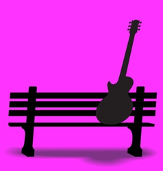 Bench Guitar 2 vector image
