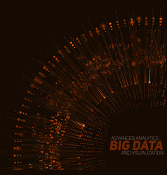 Big data circular orange vector