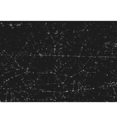 Black texture of scanned folded cracked paper vector image