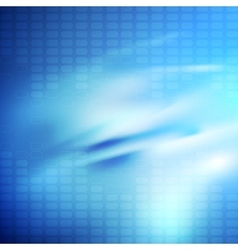 Bright blue smooth glossy tech background vector