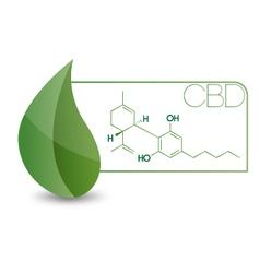 CBD-Molecule vector