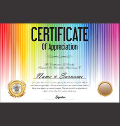 Certificate colorful background vector