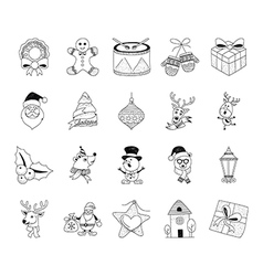 Christmas Hand Drawn Doodles 3 vector image