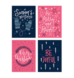 Christmas lettering collection vector