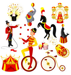 circus set cartoon vector image