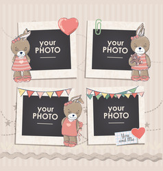collage photo frame vector image