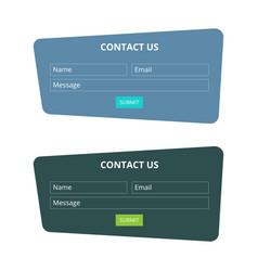 Contact us form set vector