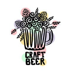 Craft beer hand drawn vector