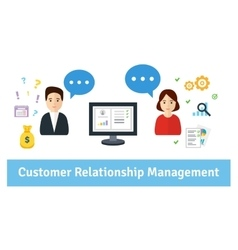 Customer Relationship Management vector