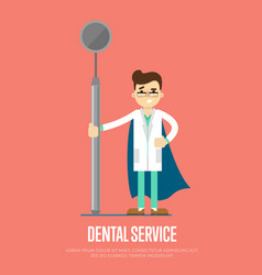 dental service banner with male dentist vector image