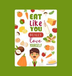 Dietitian doctor motivational poster vector