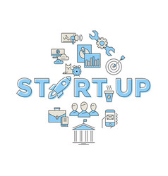 digital blue red startup vector image