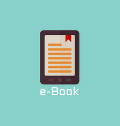 e book reader flat icon vector image