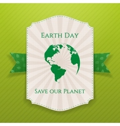 Earth Day big realistic paper Banner Template vector