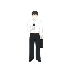 european businessman with a phone vector image