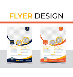 Flyer layout image vector