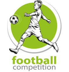 Football competition vector