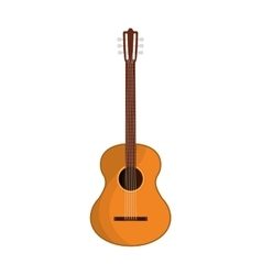 Guitar instrument wood music icon graphic vector